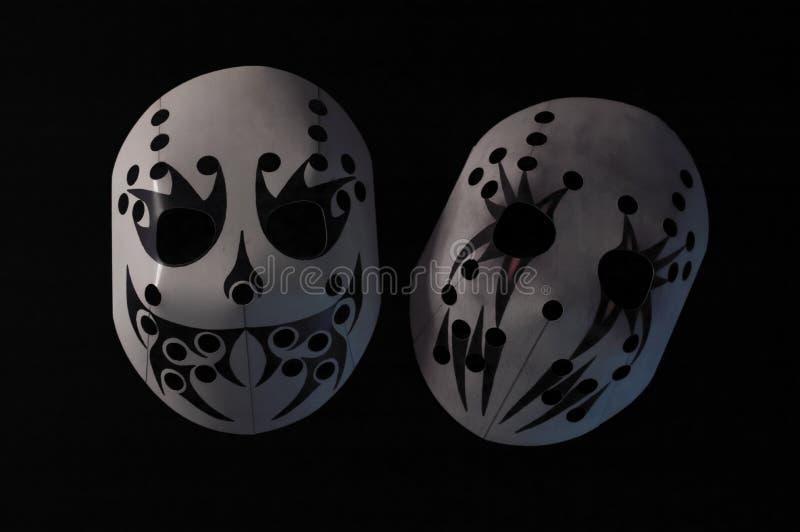 Máscaras de esqui do teatro foto de stock