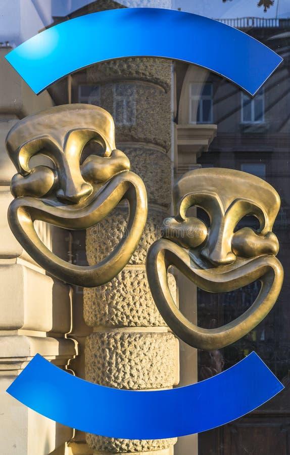 Máscaras de la comedia foto de archivo libre de regalías