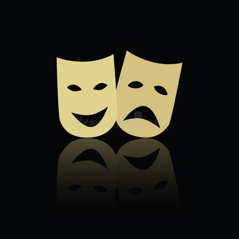 Máscaras de la emoción del teatro libre illustration