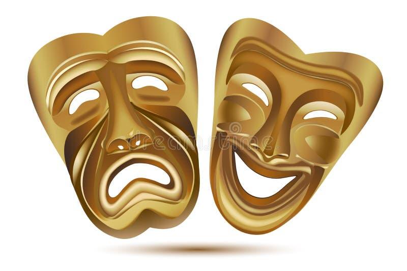 Máscaras de la hospitalidad ilustración del vector