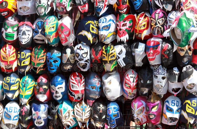 Máscaras de lucha del luchador fotos de archivo
