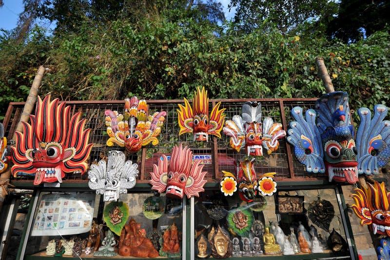 Máscaras de madera en Sri Lanka foto de archivo libre de regalías