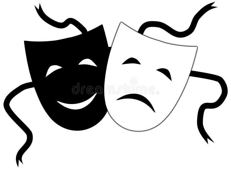 Máscaras de teatro libre illustration