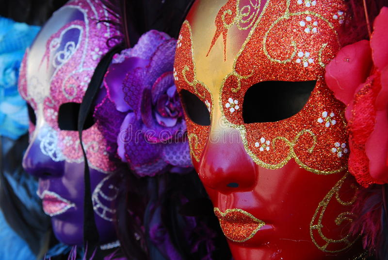 Máscaras de Veneza fotografia de stock