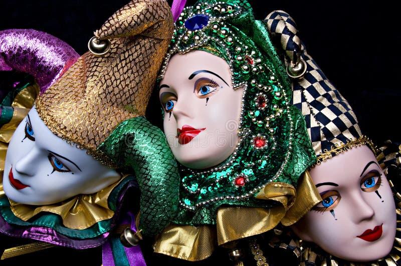 Máscaras del carnaval foto de archivo