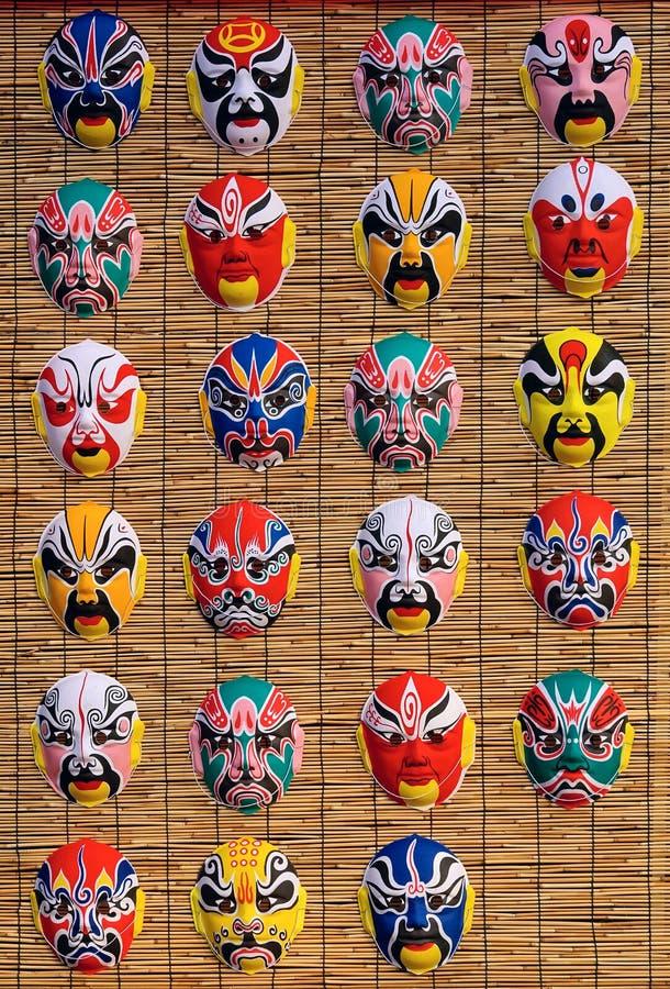 Máscaras del Facial de la ópera de Pekín imagen de archivo