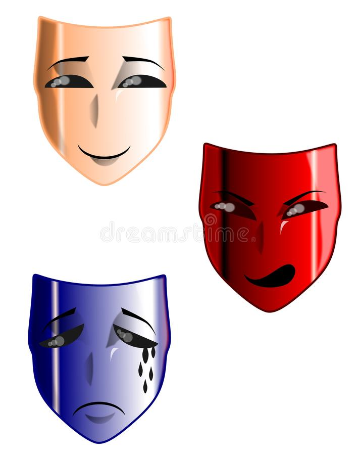 Máscaras del teatro libre illustration