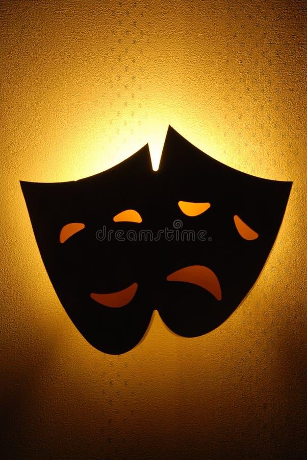 Máscaras del teatro de la comedia y de la tragedia fotos de archivo libres de regalías