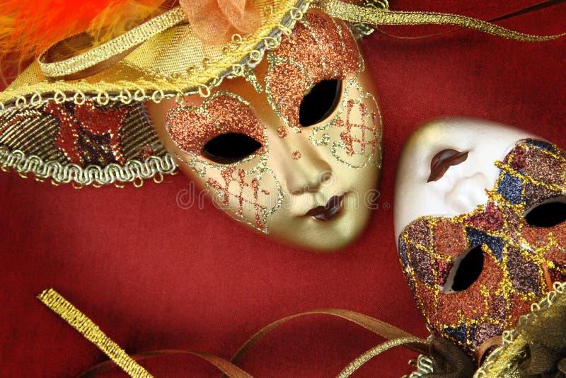 Máscaras do carnaval do vintage imagem de stock