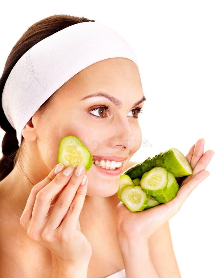 Máscaras do facial da fruta. fotografia de stock