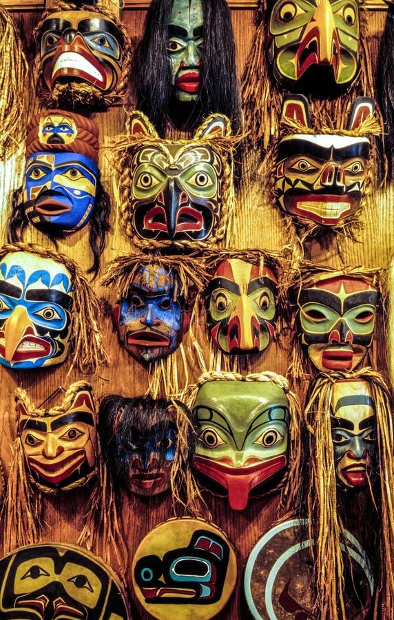 Máscaras do nativo americano imagens de stock royalty free