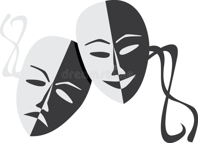 Máscaras do teatro imagem de stock royalty free