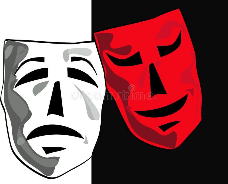 Máscaras do teatro. ilustração stock