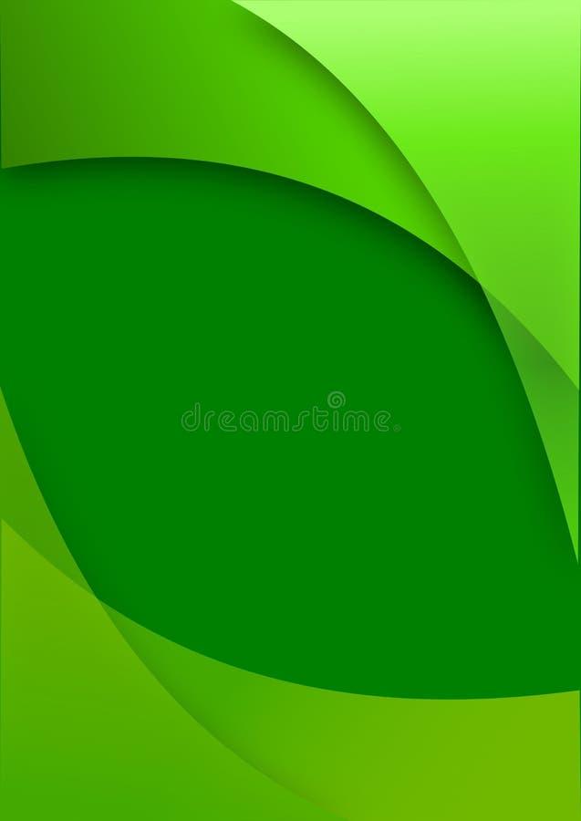 Máscaras do verde como um fundo abstrato ilustração do vetor