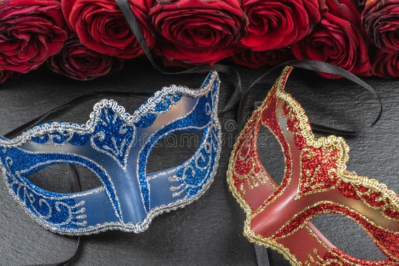Máscaras dos melhores carnavais no mundo foto de stock