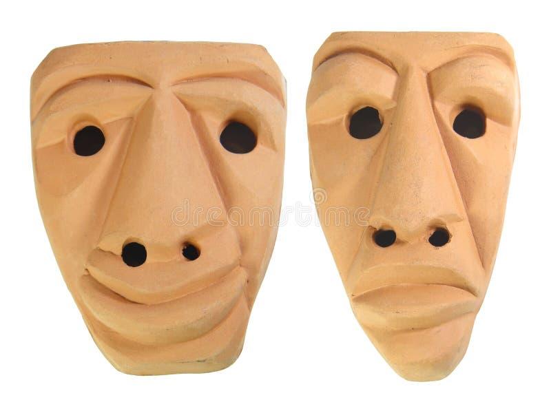 Máscaras Earthen de Sardinia foto de stock