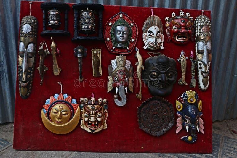 Máscaras Handcrafted fotografía de archivo libre de regalías