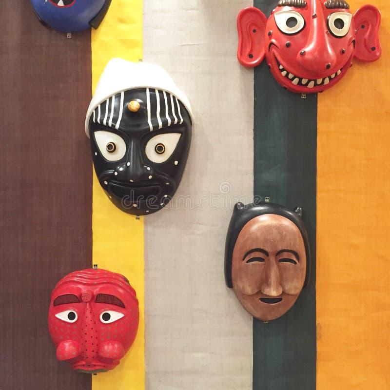 Máscaras japonesas imagenes de archivo