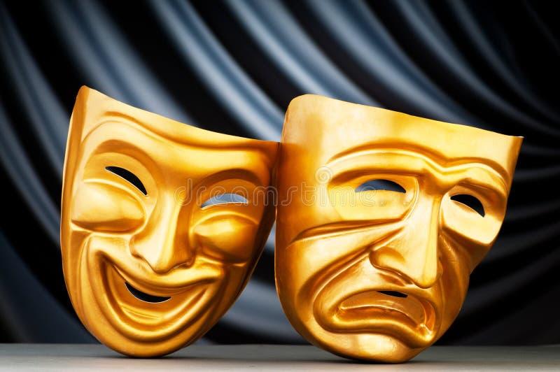 Máscaras - o conceito do teatro foto de stock