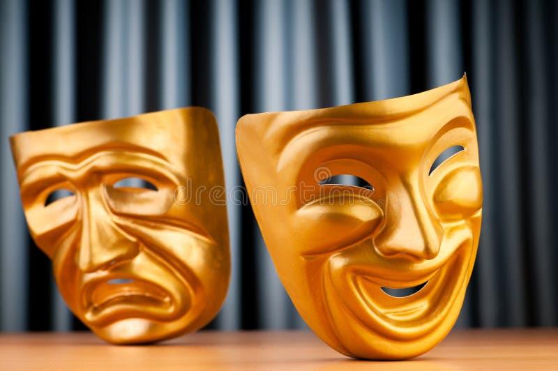 Máscaras - o conceito do teatro fotografia de stock royalty free