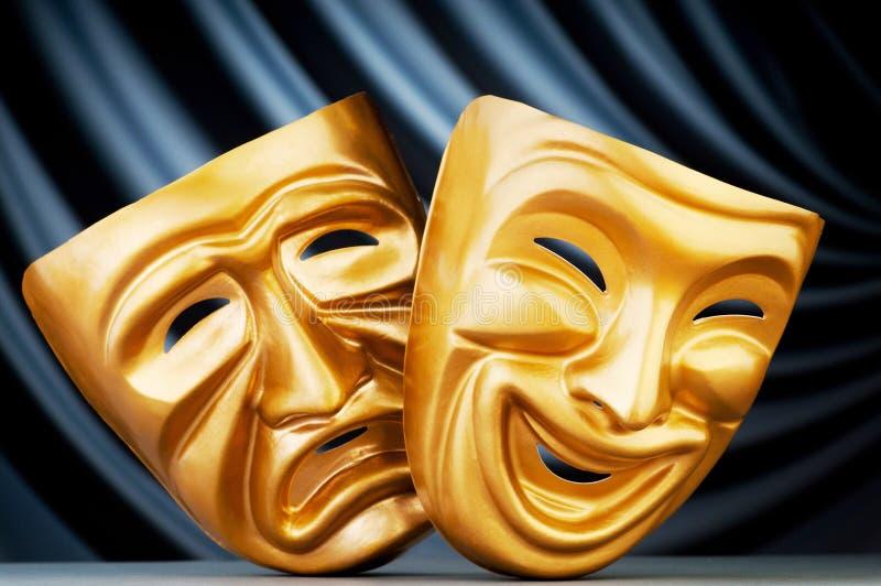 Máscaras - o conceito do teatro fotografia de stock