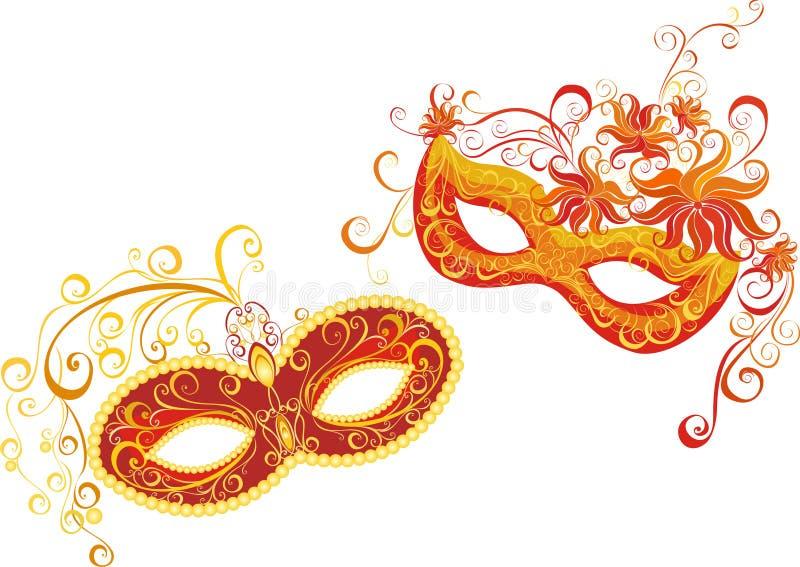 Máscaras para la mascarada stock de ilustración