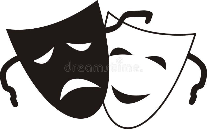 Máscaras teatrais ilustração royalty free