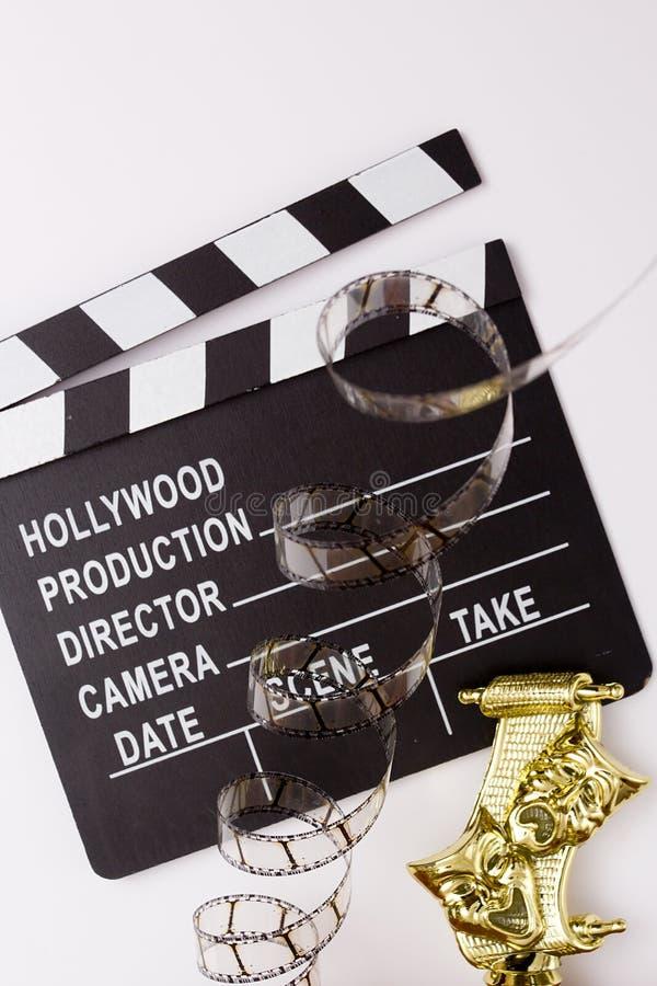 Máscaras, tostadores de palomitas de maíz del partido y películas de teatro para el cine fotografía de archivo