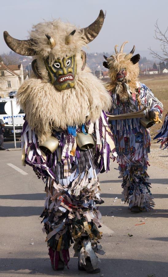 Máscaras tradicionais fotografia de stock
