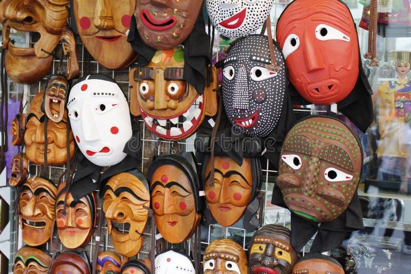 Máscaras tradicionais coreanas imagem de stock