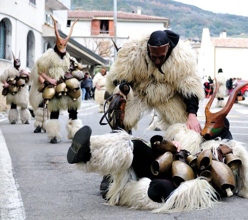 Máscaras tradicionais de Sardinia foto de stock royalty free