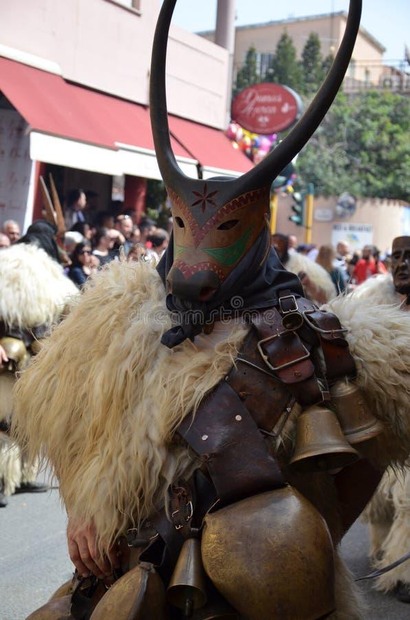 Máscaras tradicionais de Sardinia fotografia de stock