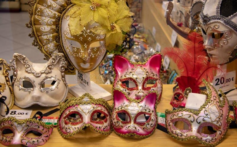 Máscaras tradicionales en Venecia fotos de archivo