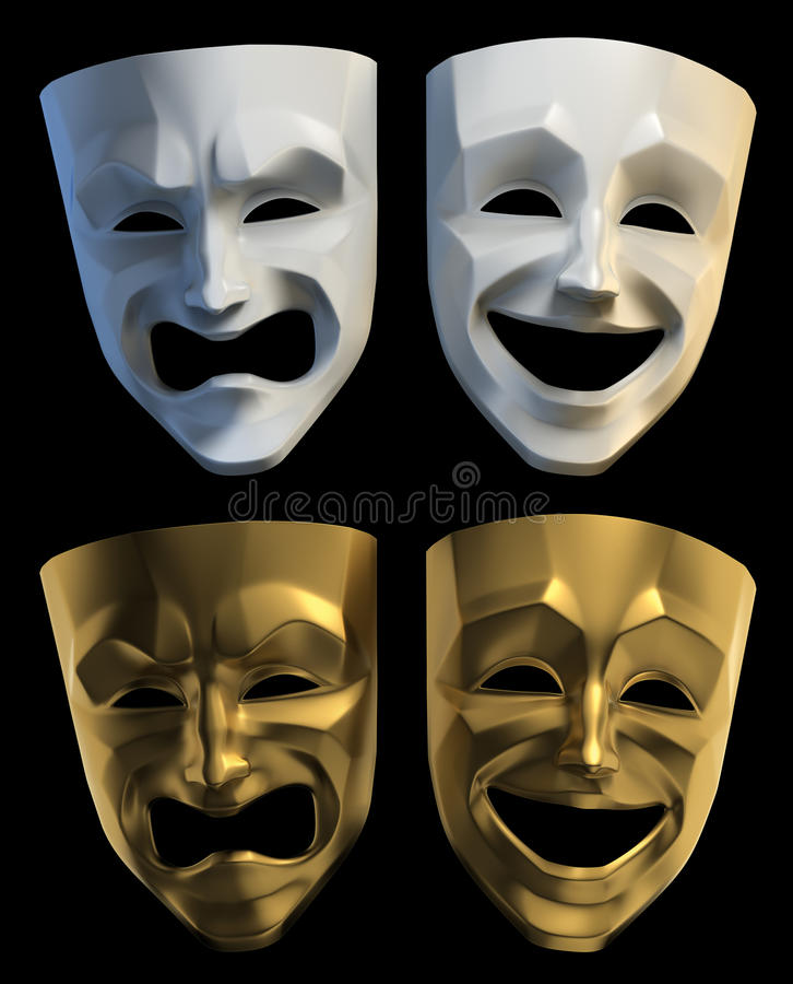 Máscaras tragicómicas del teatro libre illustration