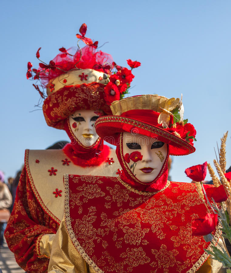 Máscaras venecianas fotografía de archivo libre de regalías