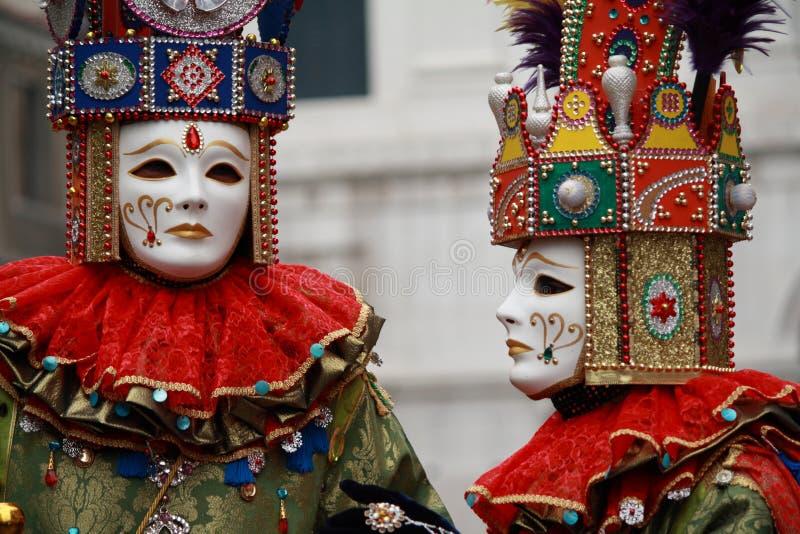 Máscaras venecianas del carnaval foto de archivo libre de regalías