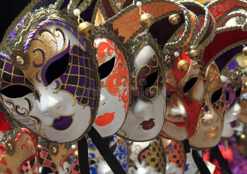 Máscaras venecianas del carnaval del vintage imágenes de archivo libres de regalías