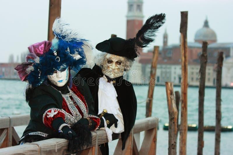 Máscaras Venecianas Nobles Imagen de archivo libre de regalías