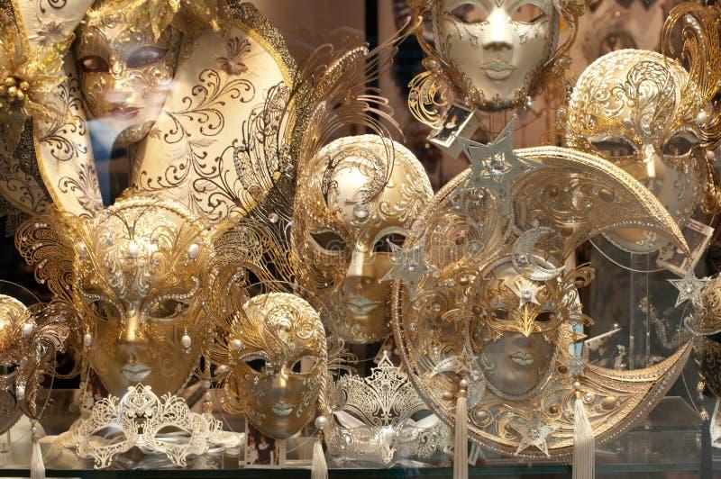 Máscaras Venetian fotografia de stock