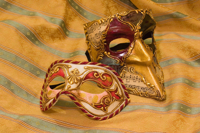 Máscaras Venetian imagens de stock royalty free
