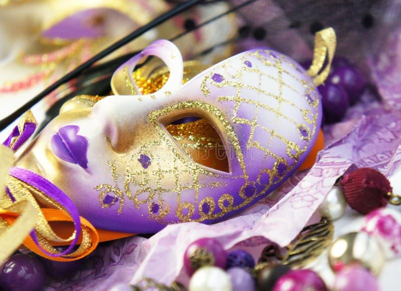Máscaras Venetian bonitas do carnaval fotos de stock