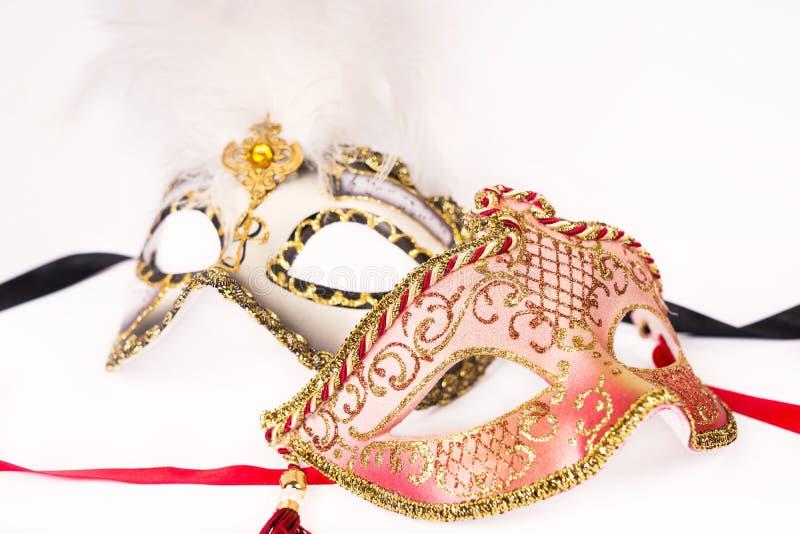 Máscaras Venetian do carnaval fotos de stock royalty free