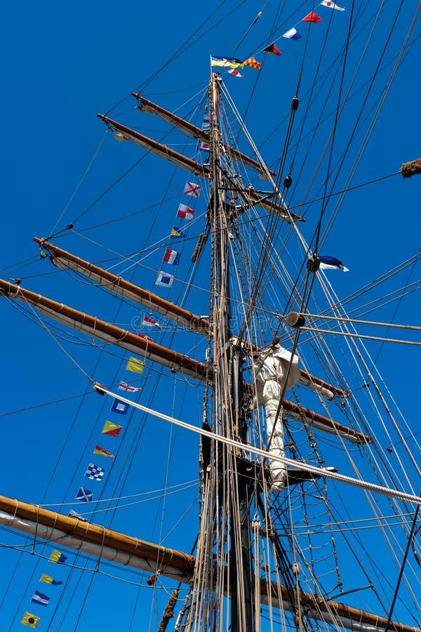 Mástil del barco foto de archivo libre de regalías