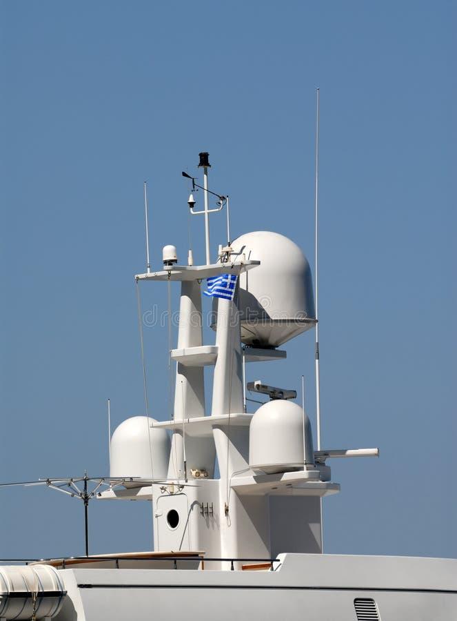Mástil del radar foto de archivo