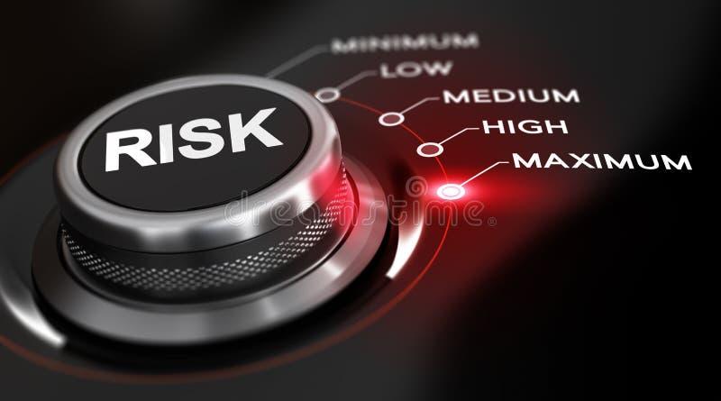 Máximo del riesgo stock de ilustración