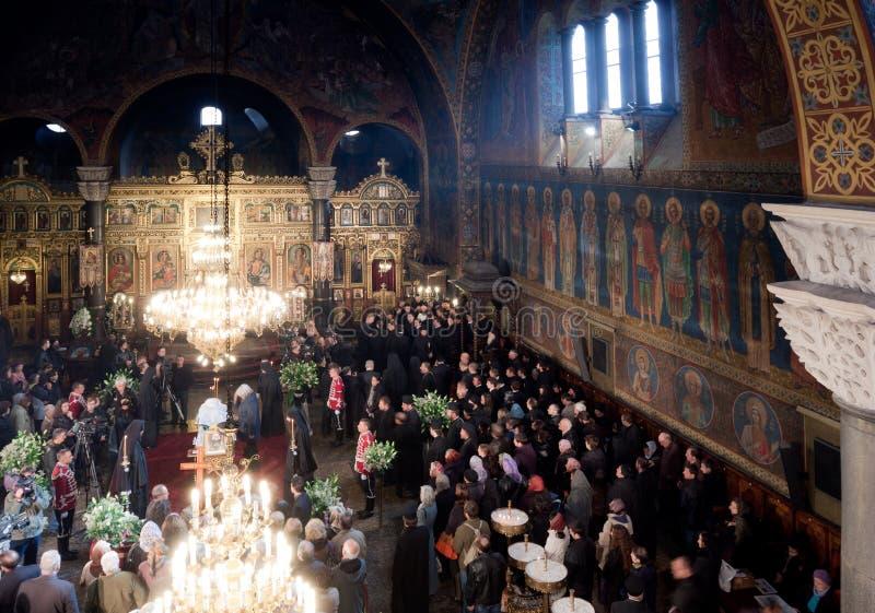 Máximo do patriarca de funeral de Bulgária imagens de stock royalty free