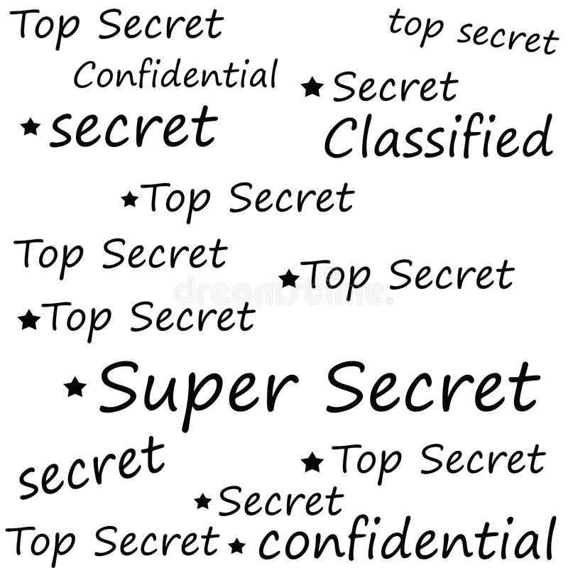 Máximo secreto estupendo ilustración del vector