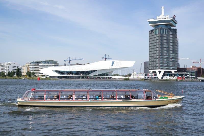 MÁXIMOS del barco de canal de Amsterdam KONINGIN fotos de archivo libres de regalías