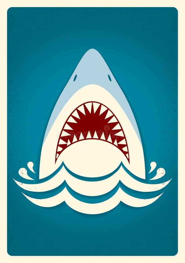 Mâchoires de requin Illustration de fond de vecteur illustration libre de droits