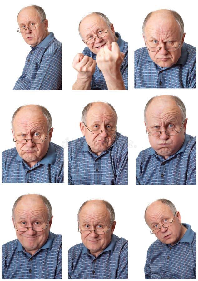 Mâle aîné émotif #2 réglé photo libre de droits